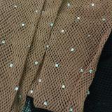 Art. calze a rete con strass sparsi